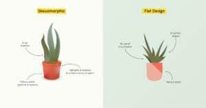Skeumorphic Design vs. Flat Design